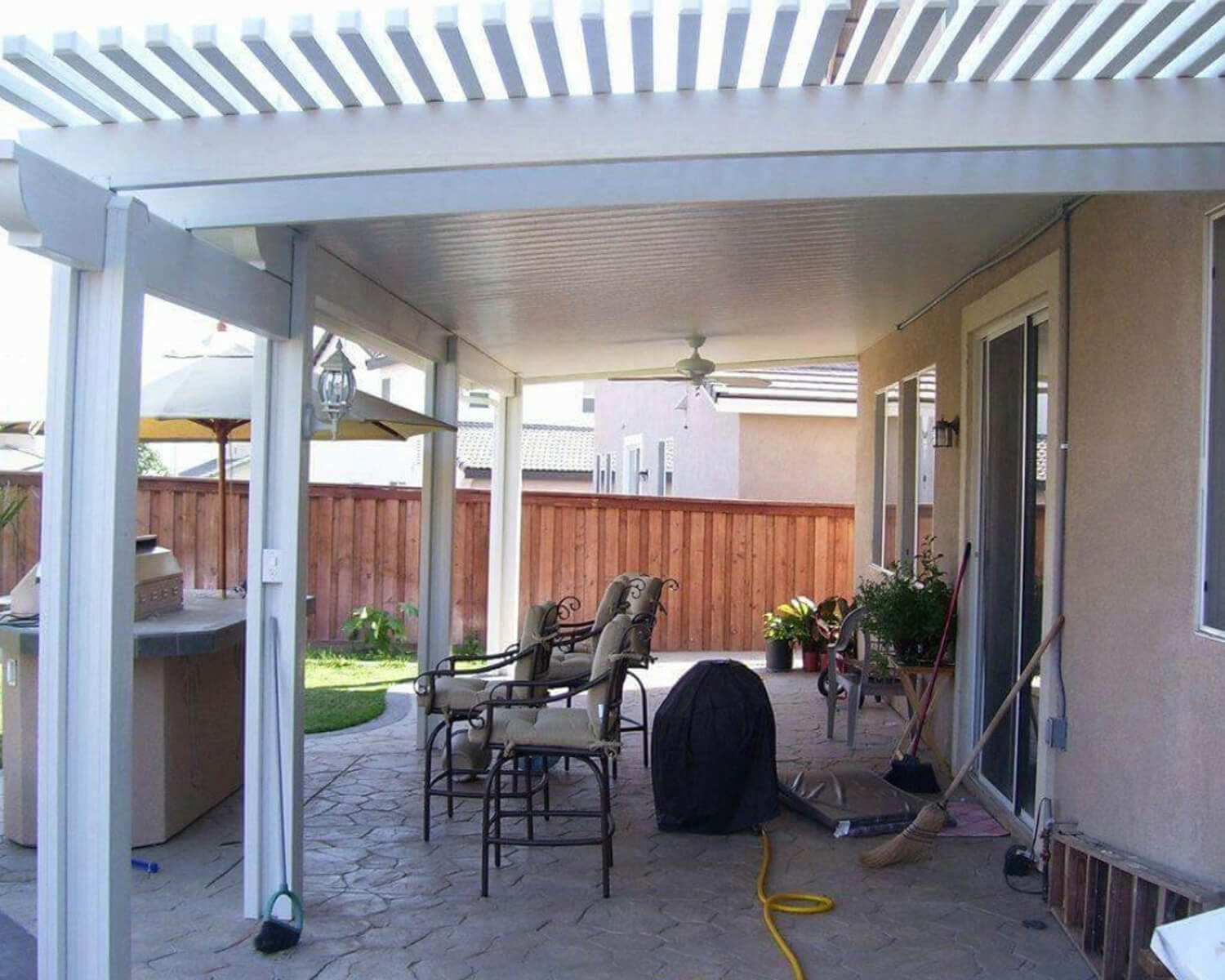 Combination Lattice Laguna & Solid Patio Covers. DIY