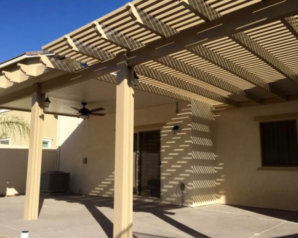 Combination Lattice Laguna & Solid Patio Covers